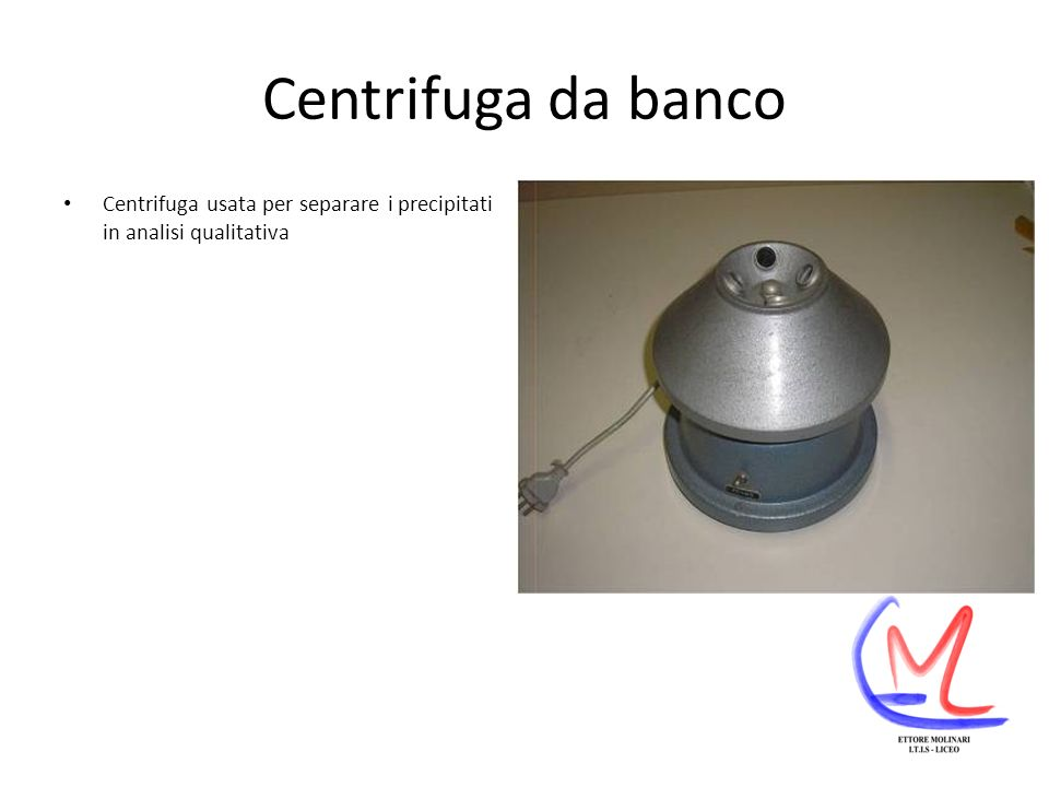 Centrifuga da banco Centrifuga usata per separare i precipitati in analisi qualitativa