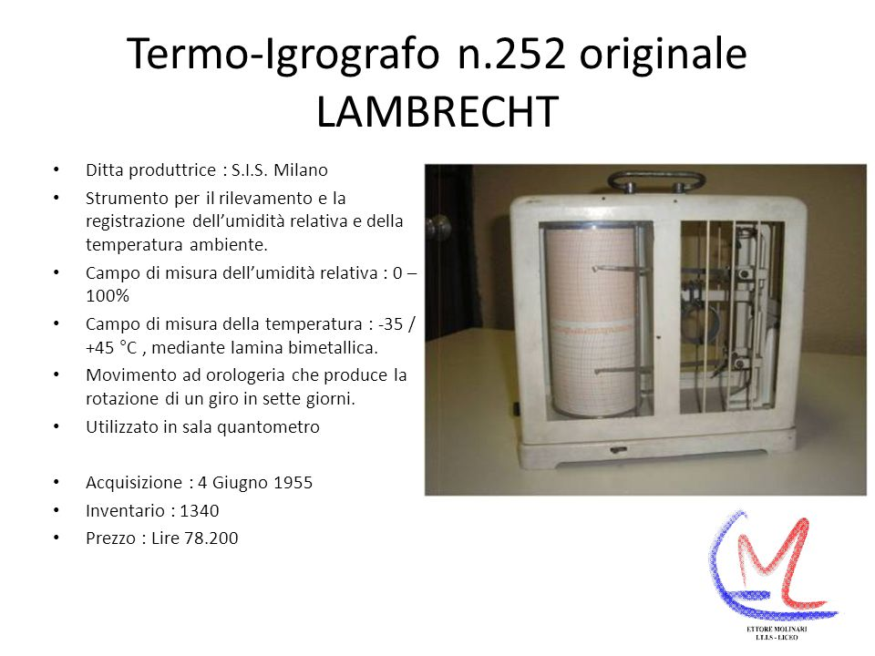 Termo-Igrografo n.252 originale LAMBRECHT