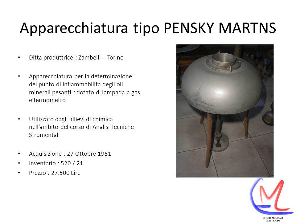 Apparecchiatura tipo PENSKY MARTNS