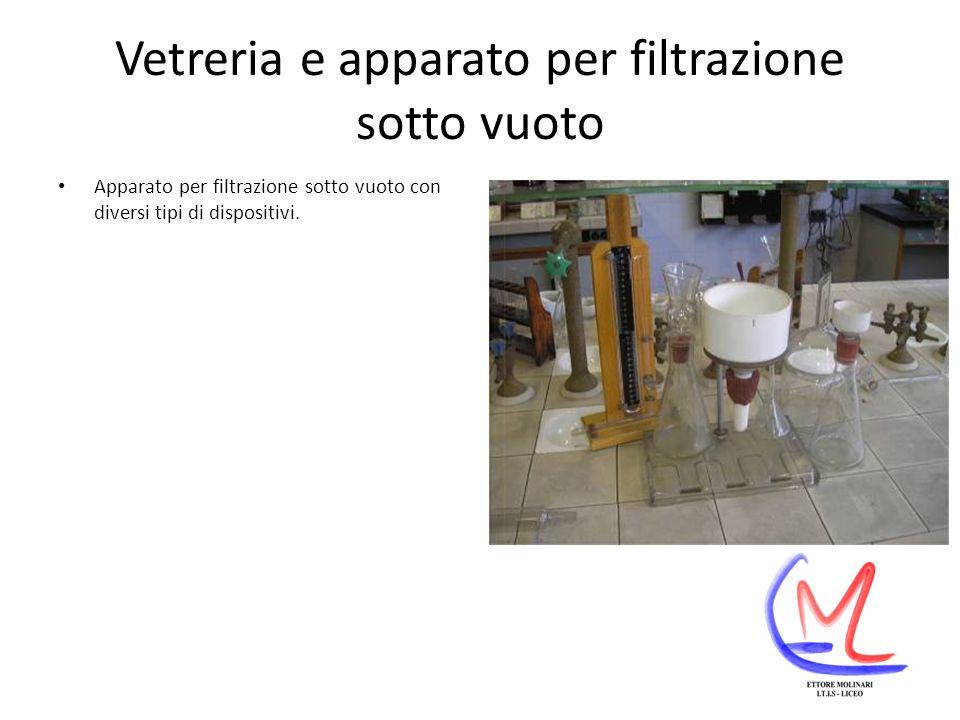 Vetreria e apparato per filtrazione sotto vuoto