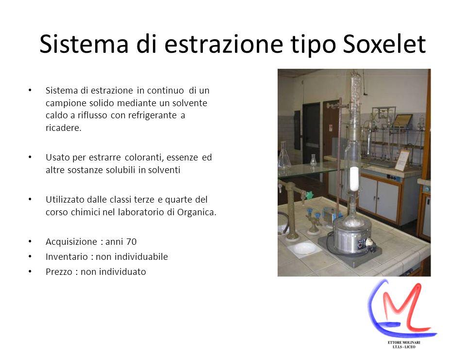 Sistema di estrazione tipo Soxelet