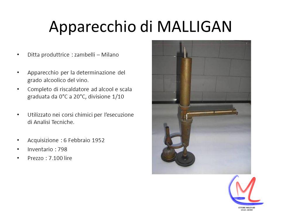 Apparecchio di MALLIGAN