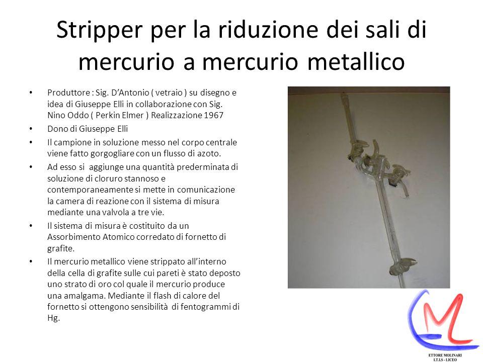 Stripper per la riduzione dei sali di mercurio a mercurio metallico