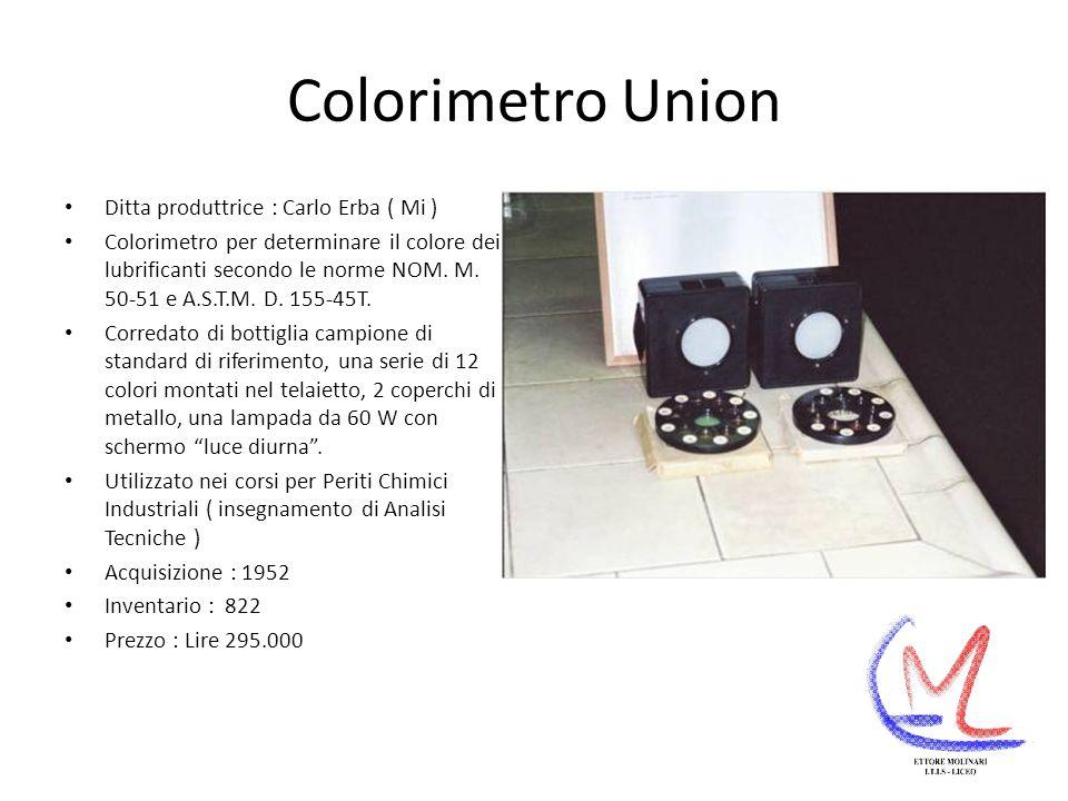 Colorimetro Union Ditta produttrice : Carlo Erba ( Mi )