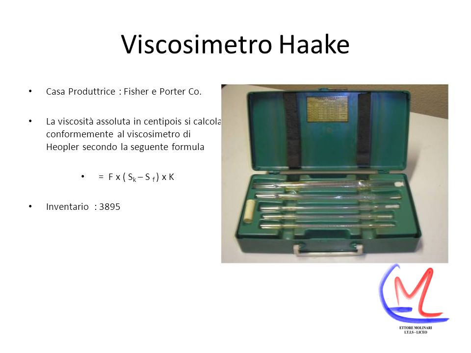 Viscosimetro Haake Casa Produttrice : Fisher e Porter Co.