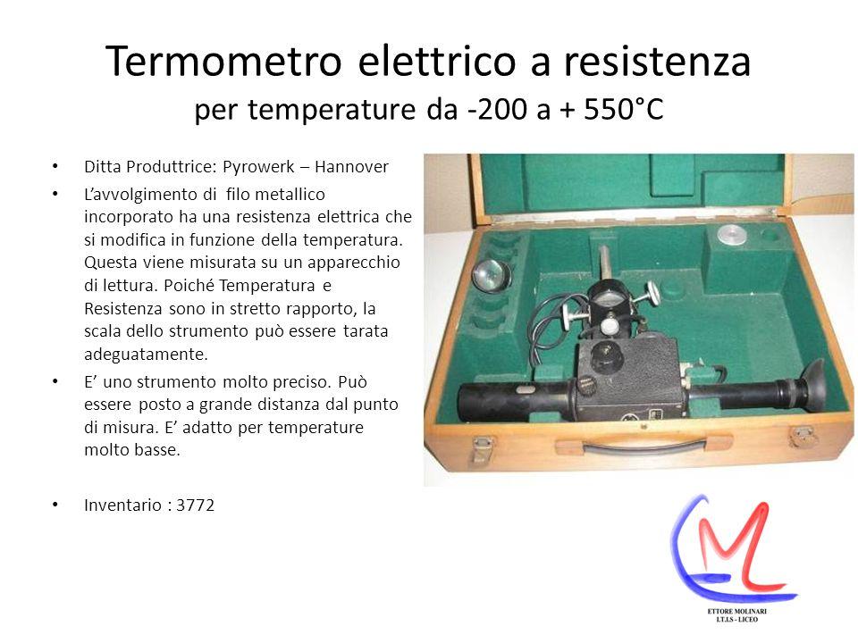 Termometro elettrico a resistenza per temperature da -200 a + 550°C