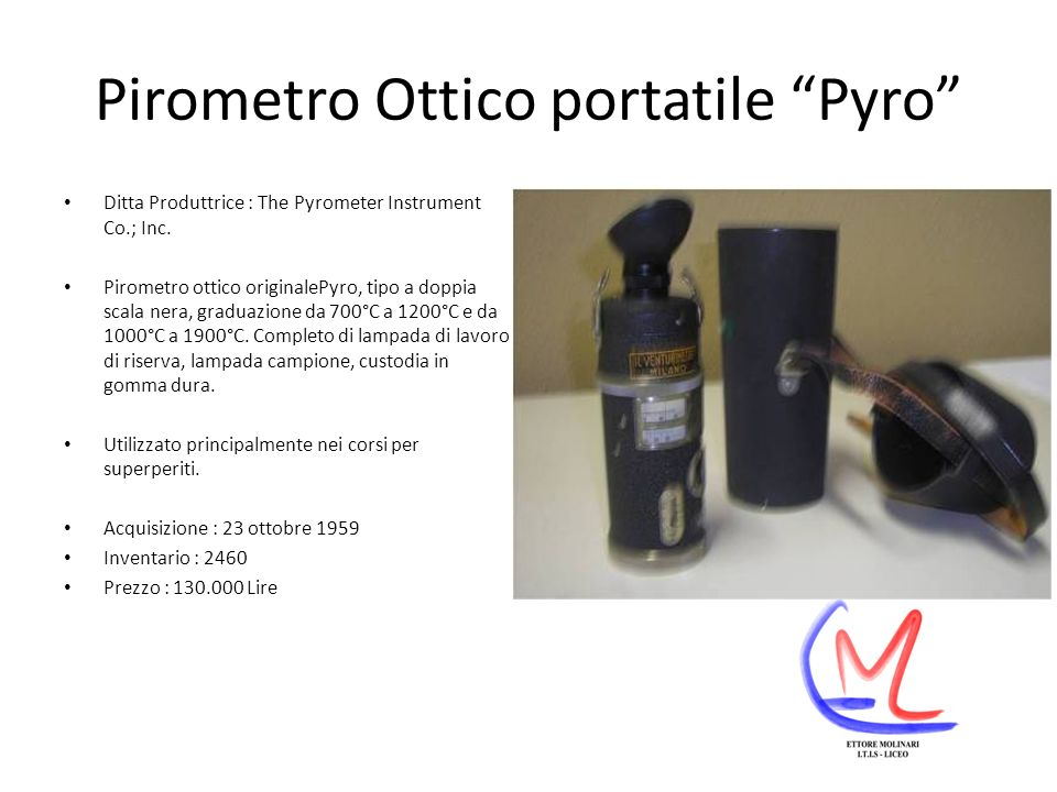 Pirometro Ottico portatile Pyro