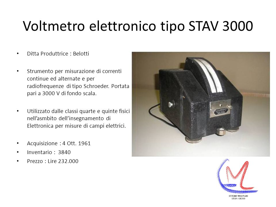 Voltmetro elettronico tipo STAV 3000