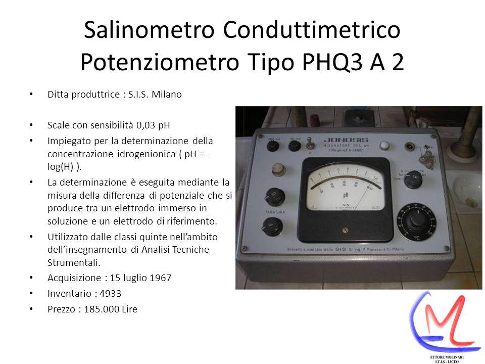 Salinometro Conduttimetrico Potenziometro Tipo PHQ3 A 2
