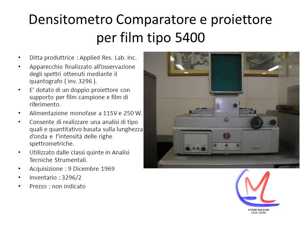Densitometro Comparatore e proiettore per film tipo 5400