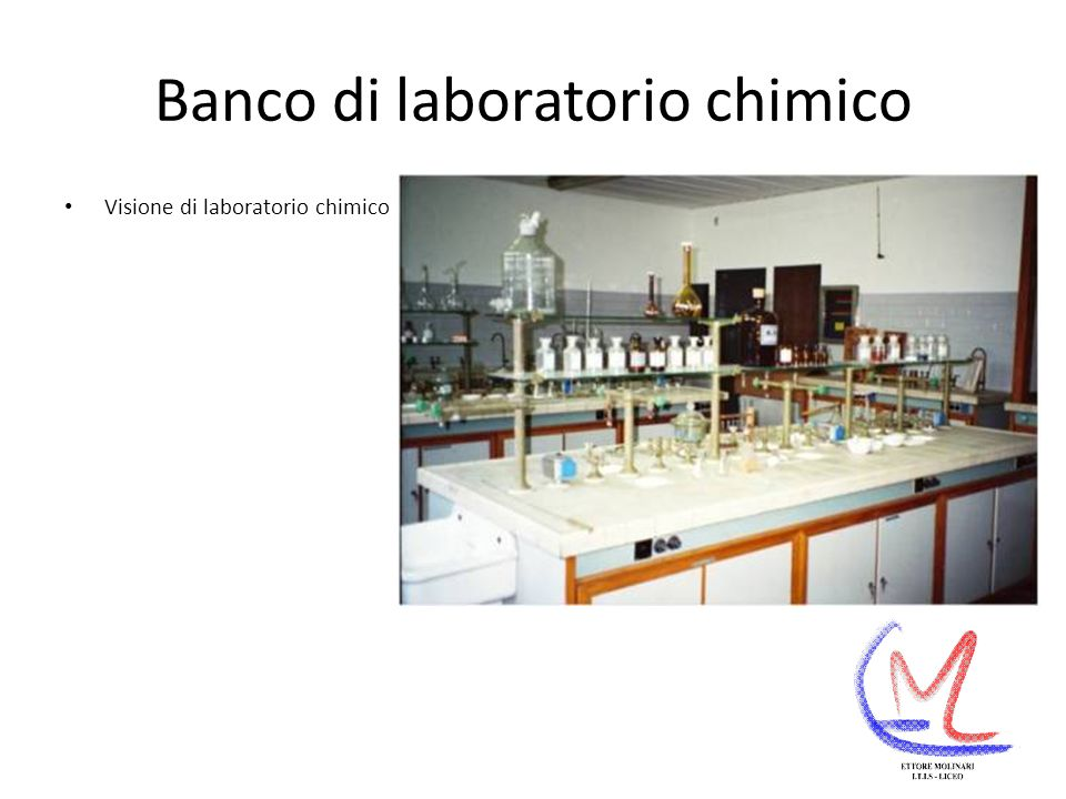 Banco di laboratorio chimico