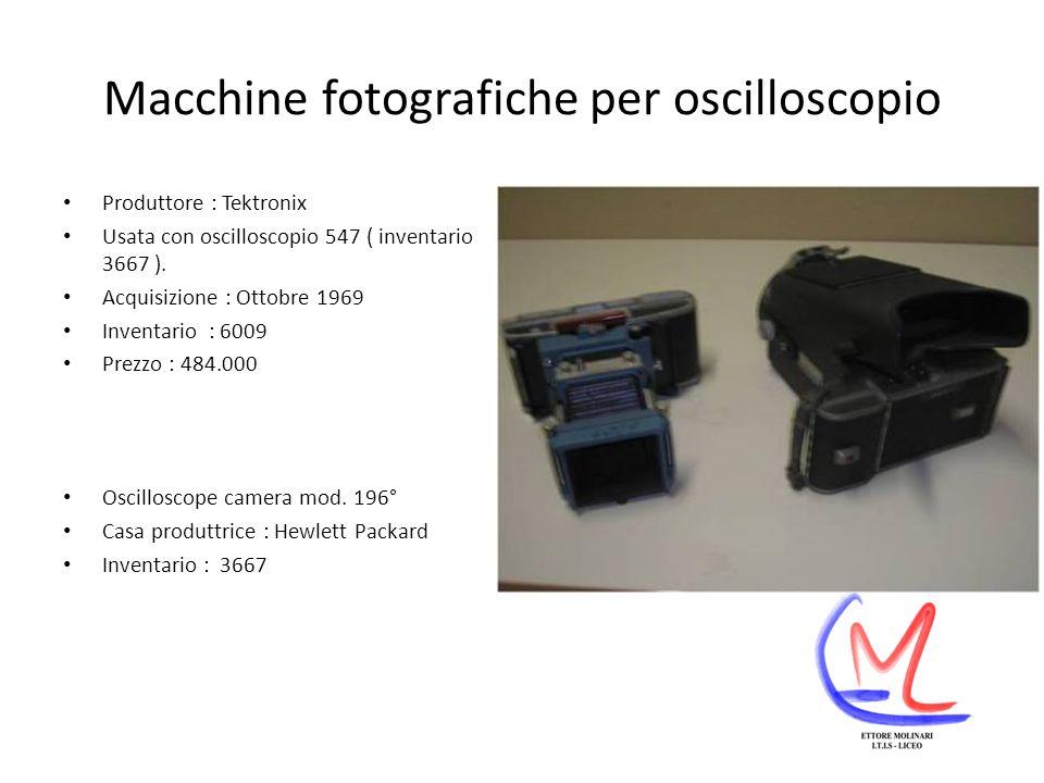 Macchine fotografiche per oscilloscopio