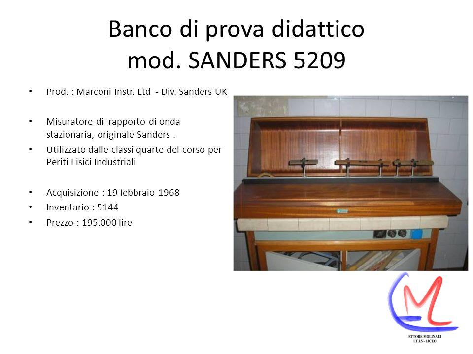Banco di prova didattico mod. SANDERS 5209