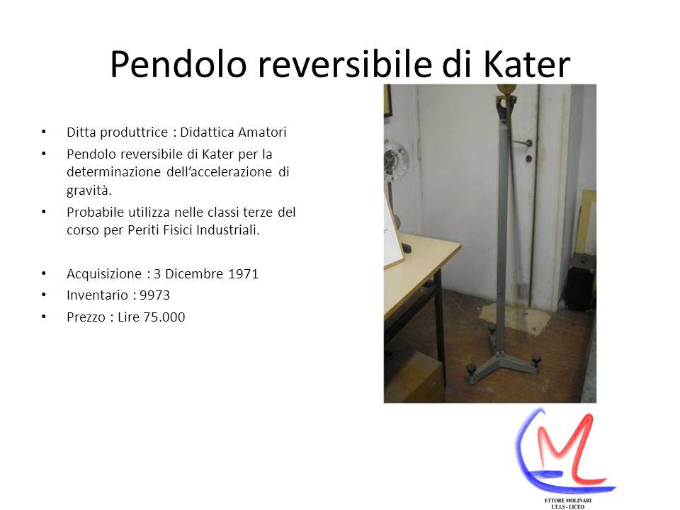 Pendolo reversibile di Kater