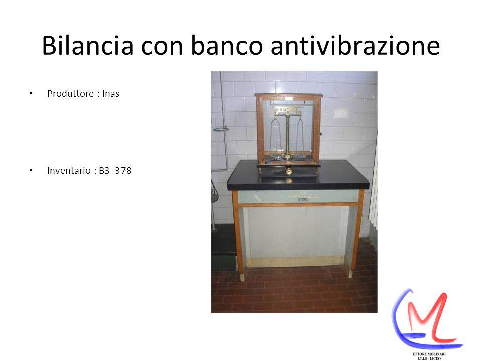 Bilancia con banco antivibrazione