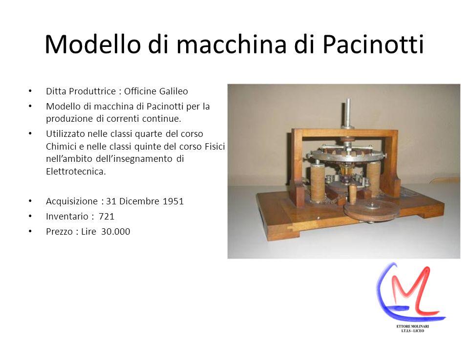 Modello di macchina di Pacinotti
