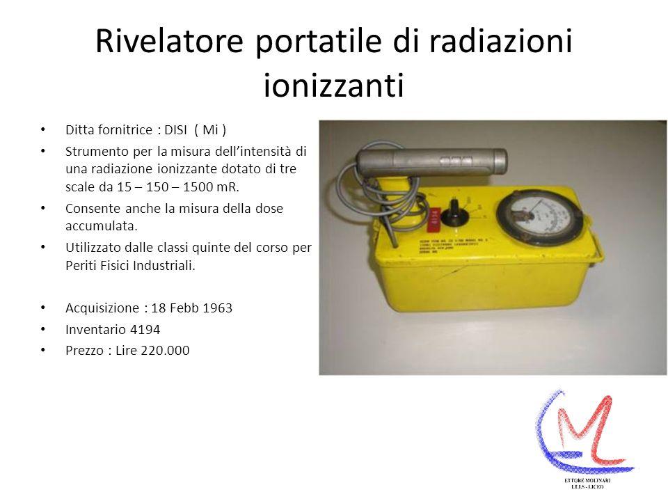 Rivelatore portatile di radiazioni ionizzanti