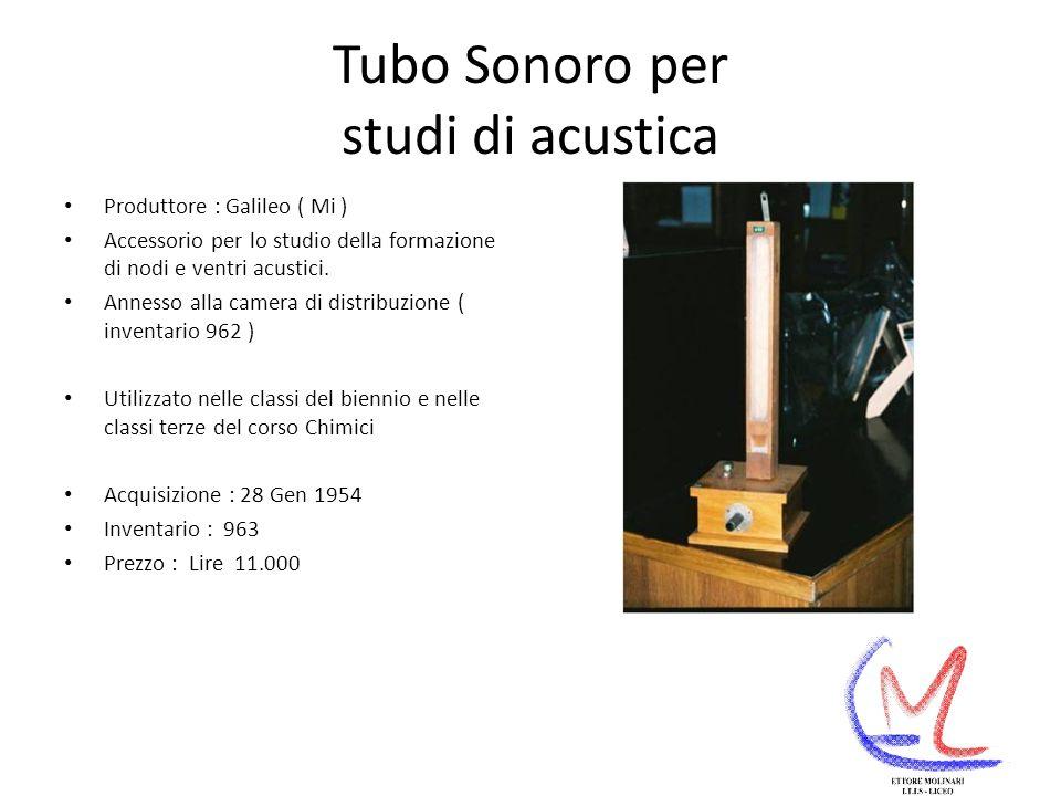 Tubo Sonoro per studi di acustica
