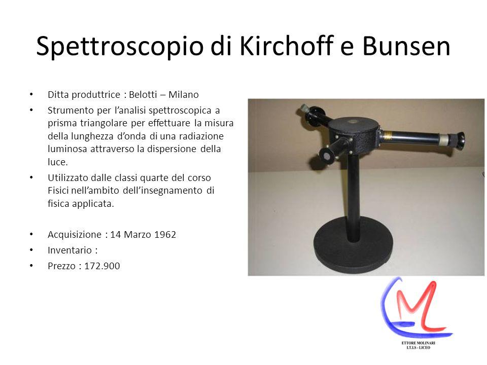 Spettroscopio di Kirchoff e Bunsen