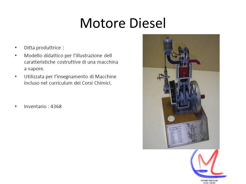 Motore Diesel Ditta produttrice :