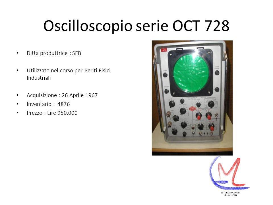 Oscilloscopio serie OCT 728
