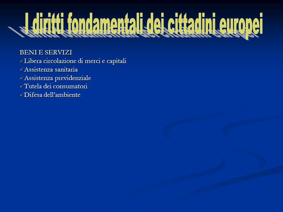 I diritti fondamentali dei cittadini europei