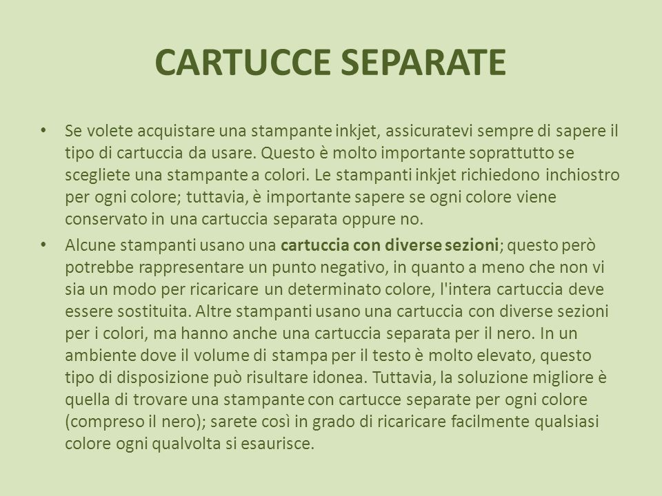 CARTUCCE SEPARATE