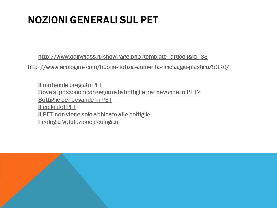 Nozioni generali sul PET