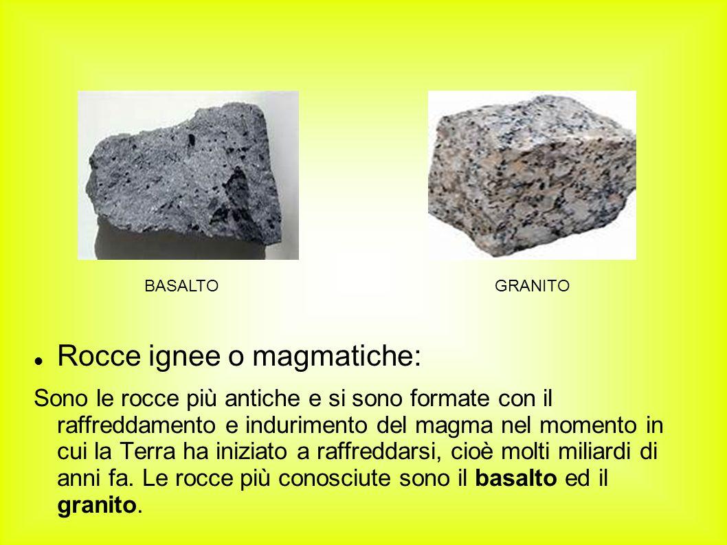 Rocce ignee o magmatiche: