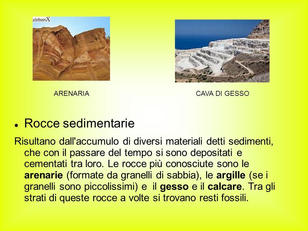 ARENARIA CAVA DI GESSO. Rocce sedimentarie.