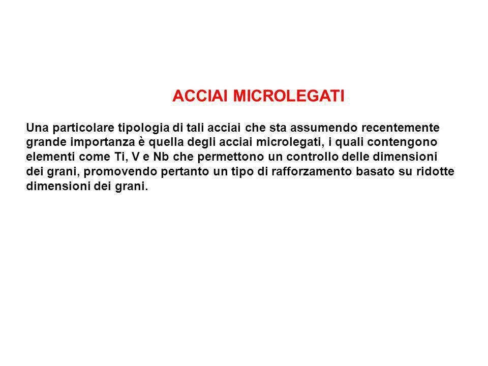 ACCIAI MICROLEGATI