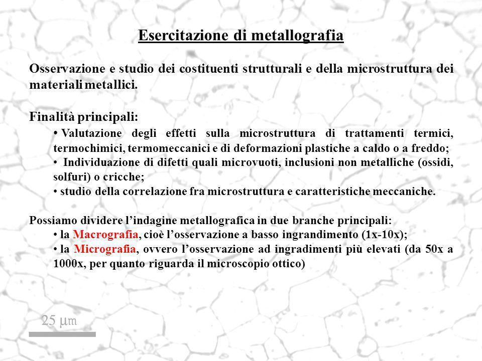 Esercitazione di metallografia