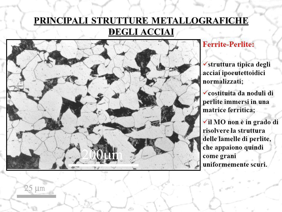 PRINCIPALI STRUTTURE METALLOGRAFICHE