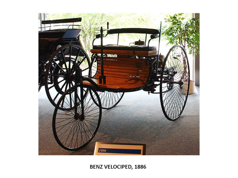 BENZ VELOCIPED, 1886