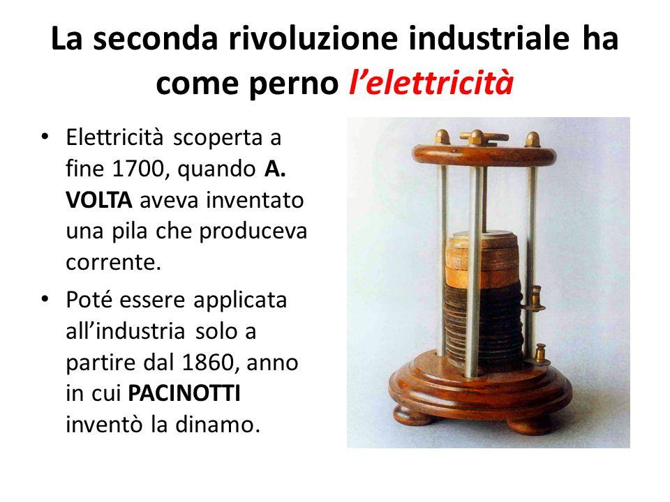 La seconda rivoluzione industriale ha come perno l'elettricità