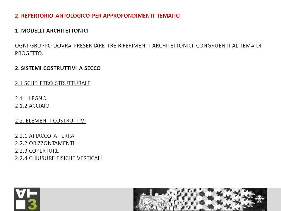 2. REPERTORIO ANTOLOGICO PER APPROFONDIMENTI TEMATICI