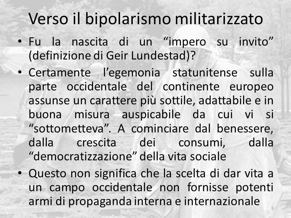 Verso il bipolarismo militarizzato