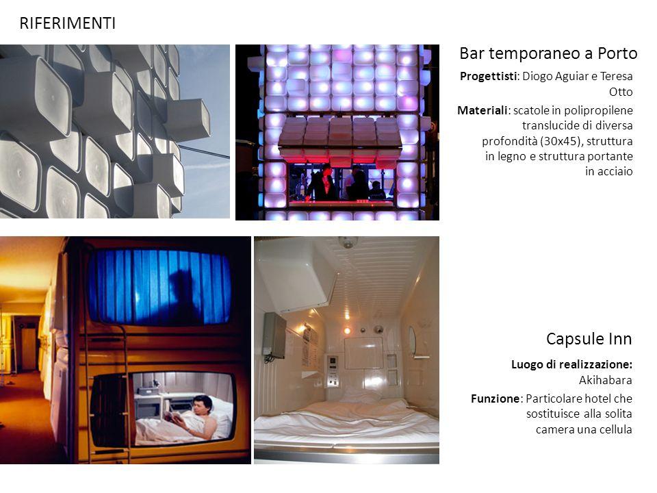 RIFERIMENTI Bar temporaneo a Porto Capsule Inn