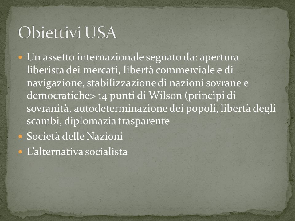 Obiettivi USA