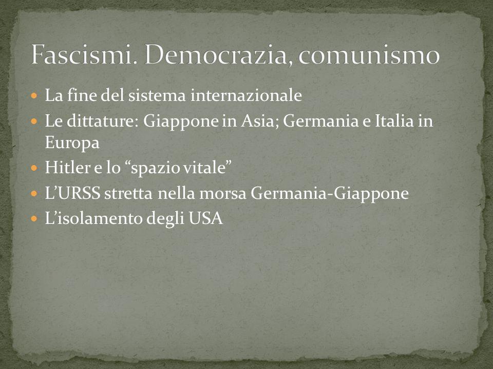 Fascismi. Democrazia, comunismo
