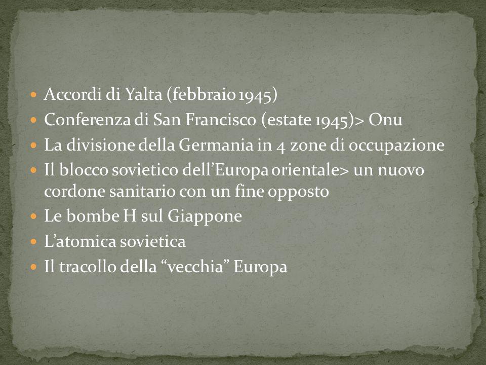 Accordi di Yalta (febbraio 1945)