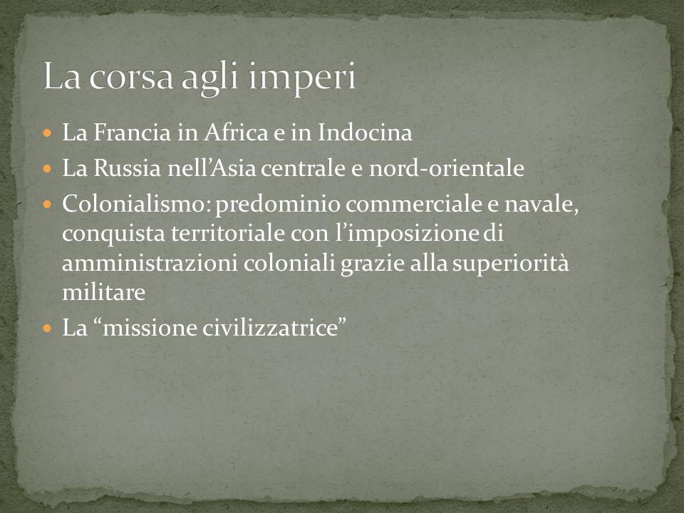 La corsa agli imperi La Francia in Africa e in Indocina