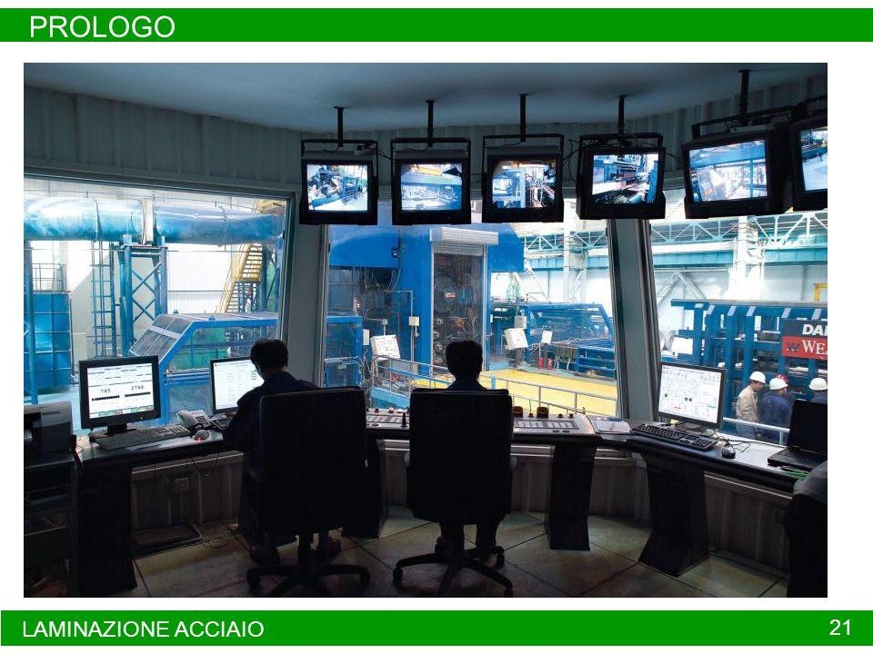 PROLOGO LAMINAZIONE ACCIAIO 21 Sala controllo di un laminatoio
