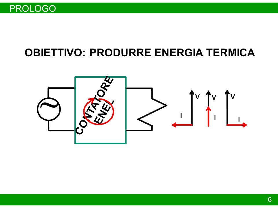 OBIETTIVO: PRODURRE ENERGIA TERMICA
