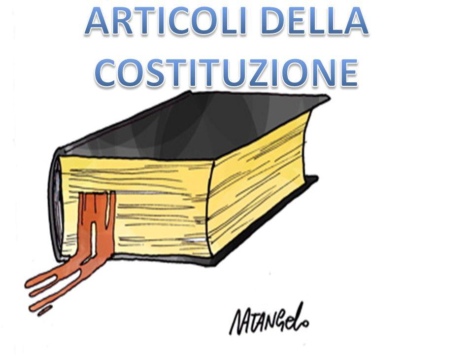 ARTICOLI DELLA COSTITUZIONE