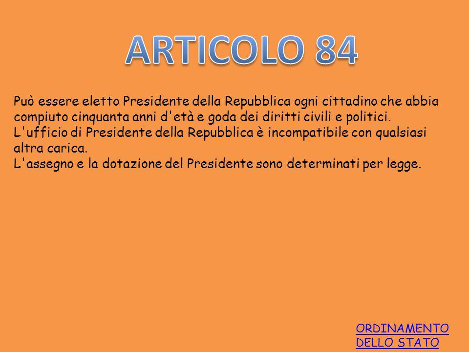 ARTICOLO 84