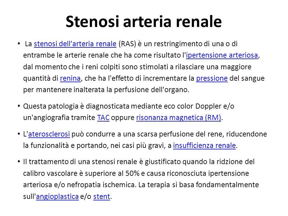 Stenosi arteria renale