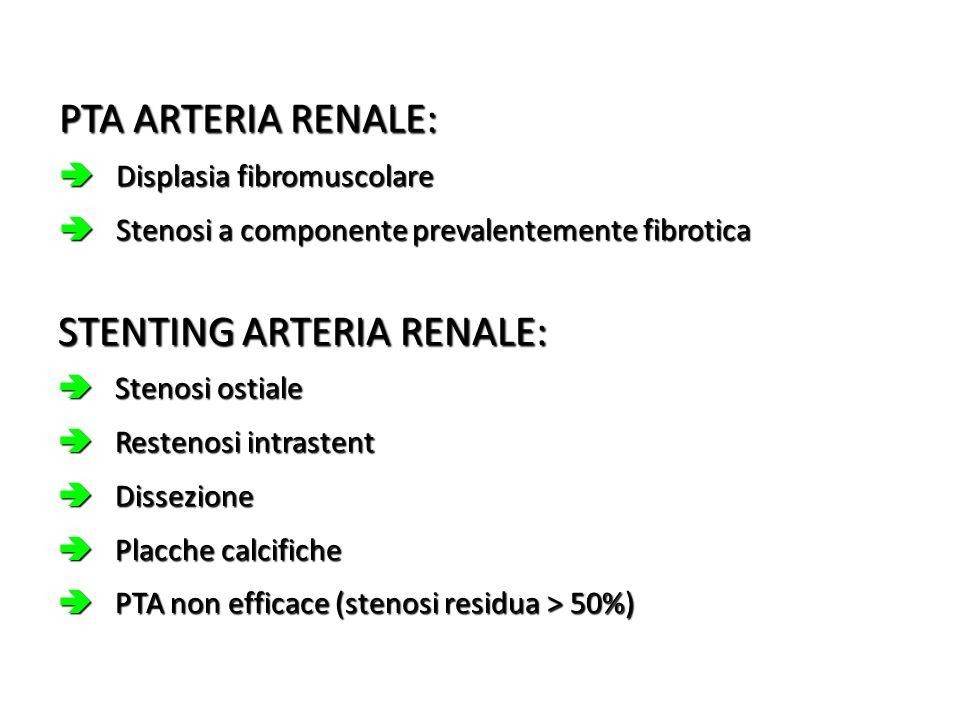 STENTING ARTERIA RENALE: