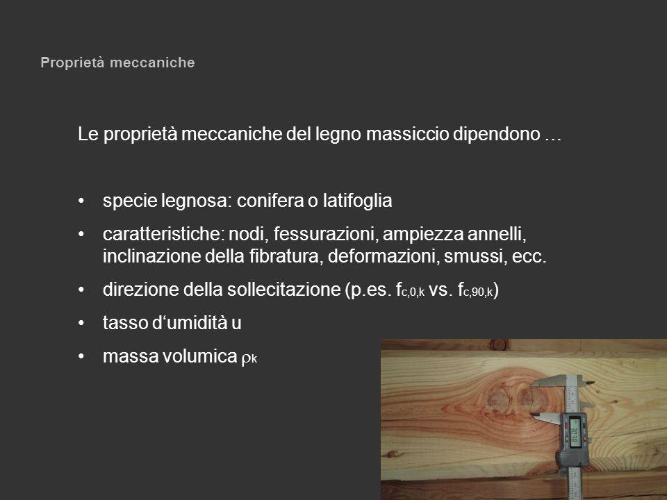 Le proprietà meccaniche del legno massiccio dipendono …