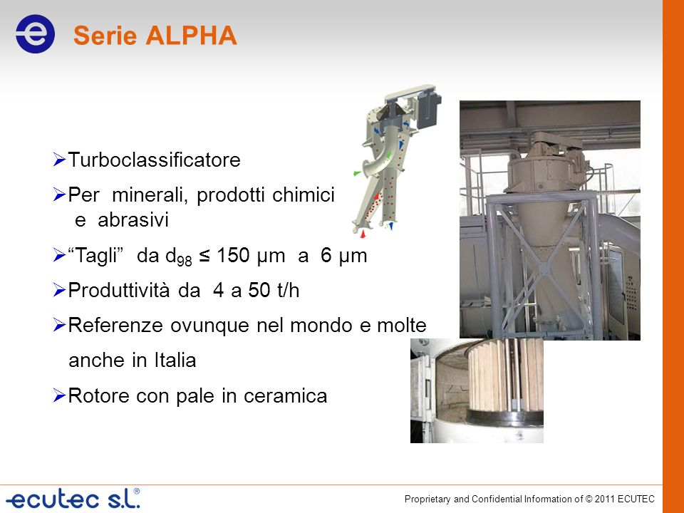 Serie ALPHA Turboclassificatore